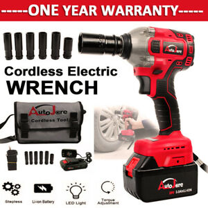 New Cordless Impact Wrench 1 2 Inch Battery Charger Powerful 18v 20v Brushless