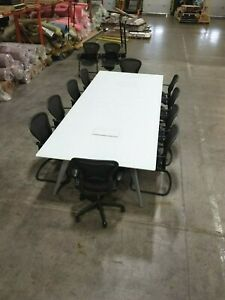 Prismatique Designs Ltd 12 Flatiron Frosted Glass Conference Table