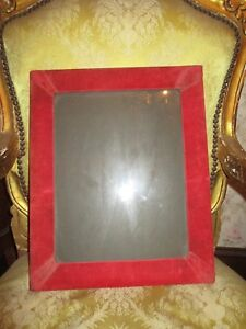 Huge Unique Handmade Vintage Photo Picture Frame Red Velvet 11 X 15 1 2