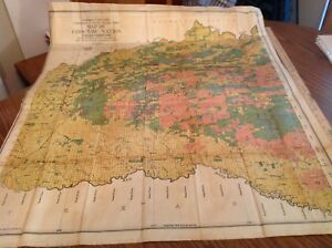 618 Indian Territory Map Choctaw Nation 1906 Land Class Legend 34x39