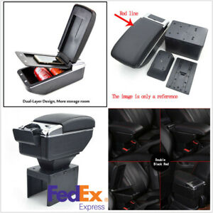 Auto Car Central Armrest Box Double layer Telescopic Style Organizer Storage Box