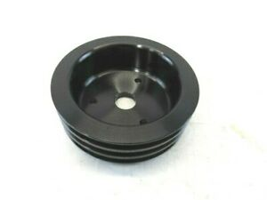 Aluminum Bbc Chevy 396 454 Swp Crank Pulley 3 Groove Blk Bpe 5006b