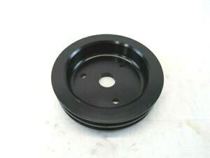 Aluminum Bbc Chevy 2 Groove Pulley Swp Crank Pulley Black Bpe 5005b