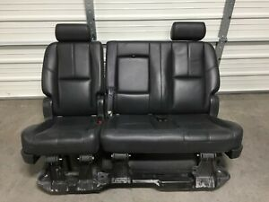 2007 2014 Tahoe Yukon Escalade 2nd Second Row Hybrid Ebony Black Bench Seat