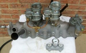 Ford Flat Head 2 Carb Intake With 97 S
