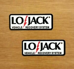 2 Lojack Car Recovery Security System Vinyl Decal Stickers Motorcycle 2 X 75