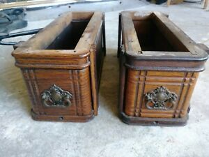 Vintage Treadle Singer Sewing Machine Wood Cabinet Drawers With Frame And Suppor