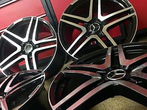 Mercedes 20 Inch Blk Edt S65 Rims Wheels Set4 New Fitment For S550 S Amg