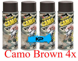 Performix Plasti Dip Camo Brown Rubber Coating Spray Aerosol Cans 4 Pack 11oz