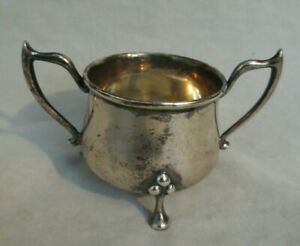 Antique Colen Cheshire Chester Sterling Silver Tw0 Handled Small Vessel Bowl