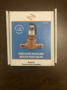 New Cash Acme Pressure Reducing Boiler Feed Valve Connected With Sharkbite
