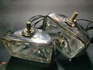 Pair Of Grote Per Lux Stainless Steel Fog Lamps Lights