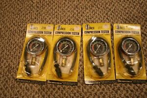 Lot Of 4 New Vintage Sonco Compression Testers Cars Automobiles Motorcycles