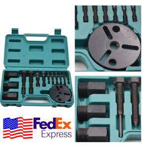 Car Air Conditioning Repair Tool A C Compressor Clutch Puller Removal Kit Usa