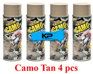Plasti Dip Camo Tan Rubber Coating Wheel Rim Kit Spray Aerosol Cans 4 Pack 11oz