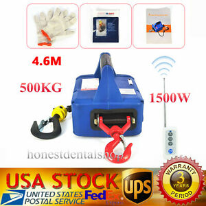 500kgx4 6m Portable Household Electric Winch Wireless Remote Control Rope Hoist