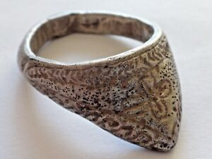 Beautiful Ancient Byzantine Silver Archers Ring 13 46gr 38 5mm 29mm 1176