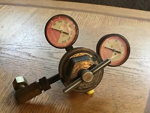 Oxweld Acetylene Linde Gauges Regulator Valve Set R 66