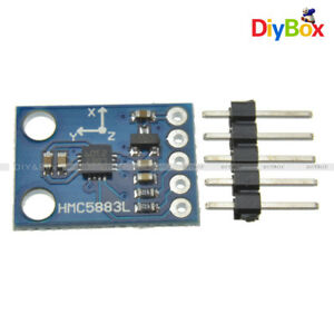 5pcs 3v 5v Hmc5883l Triple Axis Compass Magnetometer Sensor Module For Arduino