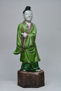 Antique Chinese Export Porcelain Figurine 8 5 Inches Tall