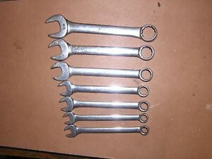Snap On British Standard Combination Wrench Set 7 Piece Free Ship