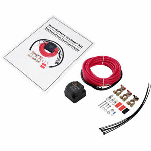 Dual Battery Isolator Kit 12 Volt 140 Amp With Voltage Sensitive Relay For Utv