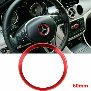 For Mercedes Benz B C E Cla Gla Glc Red Steering Wheel Center Decor Cover Trim