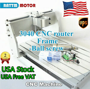 us Free cnc 3040 300w Diy Machine Frame For Engraving Milling Router Ball Screw
