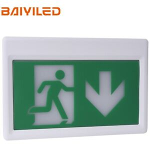 Standard Emergency Led Exit Sign Light Ceiling Mounting Running Man And Arrow