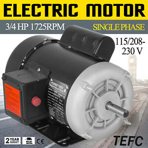 3 4 Hp Electric Motor 1 Ph 1750rpm 5 8 Shaft Cw ccw Applicable Waterproof