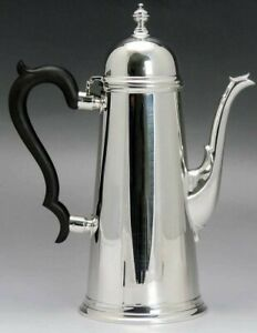 Handsome Tuttle Sterling Silver Georgian Style Lighthouse Coffee Teapot