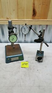Teclock Ai 921 1 Dial Gage Indicator Federal Usa Fowler Stand Magnetic Base Lot