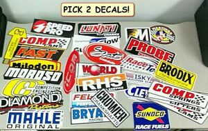 Lot Of 2 Large Hot Rod Racing Motorcycle Decals Stickers Free Shipping