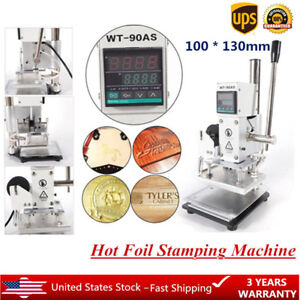 10x13cm Digital Hot Foil Stamping Machine Leather Embossing Bronzing Machine Usa
