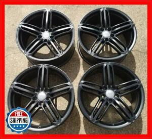 Audi 19 Tt Genuine Oem Factory Wheel Set Rims 58876 Satin Black S