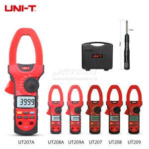 Uni t Digital Clamp Meter Auto Range Ac Dc Volt Current 1000v 1000a Ammeter 55mm
