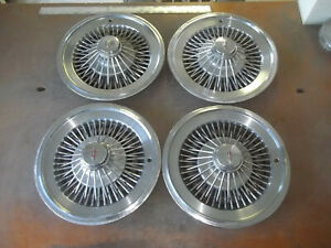 73 74 75 76 77 Oldsmobile Cutlass Hubcap Rim Wheel Cover Hub Cap 15 Wire 4034 4