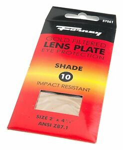 Forney Industries 57061 Gold Filtered Hardened 10 Replacement Gas Welding Lens