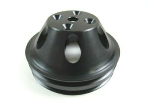 Aluminum 340 360 Chrysler Mopar Water Pump Pulley 6 5 Od Black Bpe 5105b