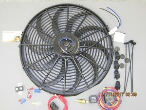 High 3000 Cfm 12v Electric Hdcurved S Blade 16 Cooling Fan Hd Fan Relay Kit