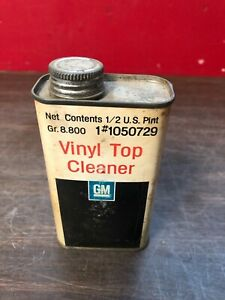 Vintage Gm Empty Vinyl Top Cleaner Can Mancave Display Gm Accessory 519