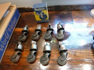 Set Of 8 Vintage Bassick Stem Chair Furniture Casters
