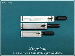 Kingsley Machine 18pt 2 3 4 inch 1 line Type Holders Hot Foil Stamping