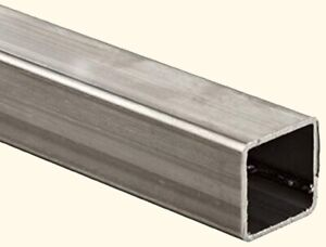 Stainless Steel Hollow Square Tube 1 7 8 I d X 2 O d X 6 Ft Long 304