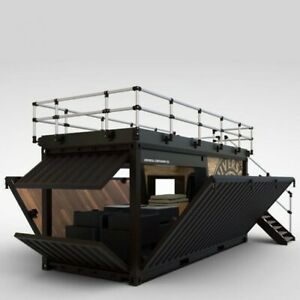 Shipping Container Kiosk Cafe Coffee 160 Sq Ft