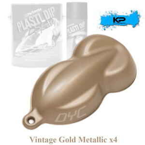 Plasti Dip Vintage Gold Metallic 3 Pack Rubber Coating Aerosol Spray Cans 11oz