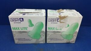 400 Pair Howard Leight Max Lite Green Disposable Foam Earplug Lpf 1
