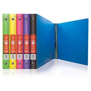 Bazic 1 Inch Swirl Poly 3 ring Binder W Pocket Pack Of 48