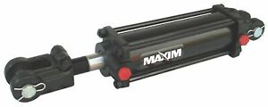 Maxim Double Acting Tie Rod Hydraulic Cylinder 2 Bore Dia in 18 Stroke