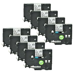 8pk Tze m31 Tzm31 Label Tape Black On Matte Clear For Brother P touch 1 2 26ft